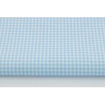 Cotton 100% small blue check