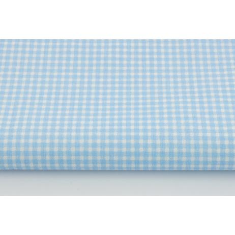Bawełna 100% niebieska mała krateczka *1m*