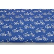 Dzianina 100% bawełniana rowery na ciemnoniebieskim tle
