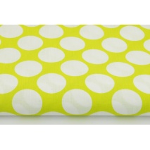 Cotton 100% 3cm dots on an olive background