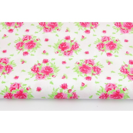 Cotton 100% roses on a white background