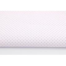 Bawełna 100% różowe kropki 2mm na białym tle