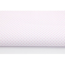 Cotton 100% pink dots 2mm on a white background