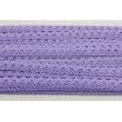 Cotton lace 15mm in a purple color