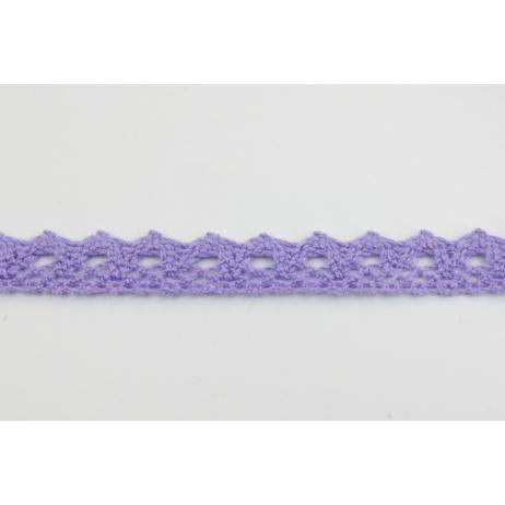 Koronka bawełniana 15mm, fioletowa