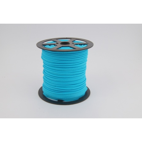Cotton edging ribbon bright turquoise