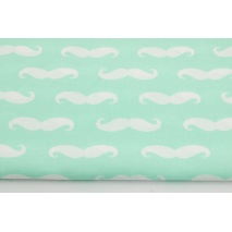 Cotton 100% mustache on a mint background