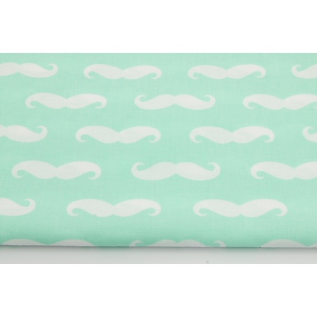 Cotton 100% mustache on pink background