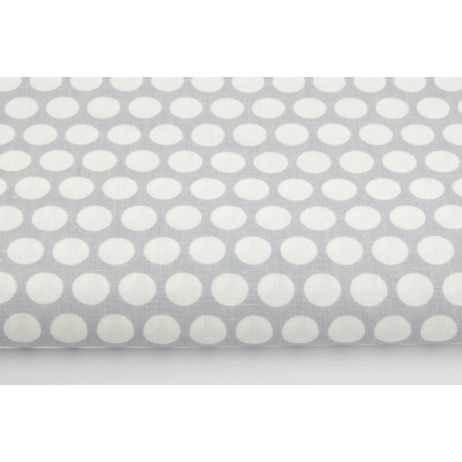 Cotton 100% dots in row on a gray background