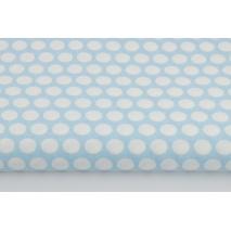 Bawełna 100% kropki w rzędach na niebieskim tle