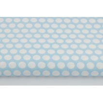 Cotton 100% dots in row on a blue background