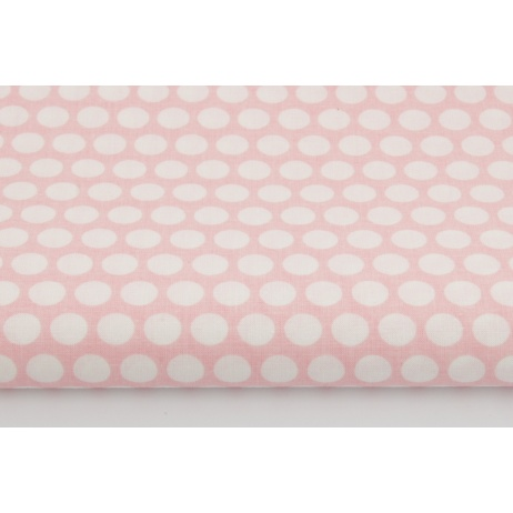 Cotton 100% dots in row on a coral background