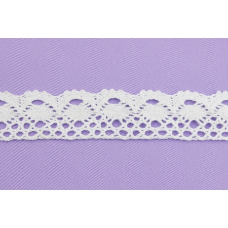 Cotton lace 34mm, white