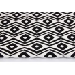 Bawełna 100% dekoracyjna, podwójny zygzak czarny na białym tle 220g/m2