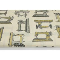 Bawełna 100% maszyny do szycia na kremowym tle