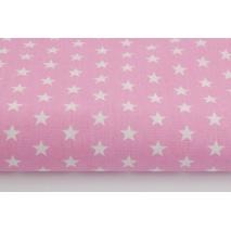 Bawełna 100% gwiazdki 11mm na różowym tle