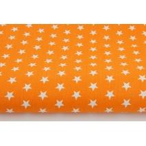 Bawełna 100% gwiazdki 11mm na pomarańczowym tle