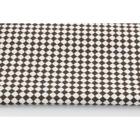 Bawełna 100% mikro romby szarobrązowe