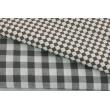 Cotton 100% micro gray-brown diamonds