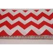 Cotton 100% red chevron zigzag