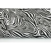Bawełna 100% zebra czarno-biała