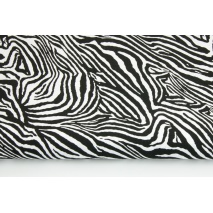 Cotton 100% zebra black and white