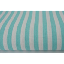 Cotton 100% turquoise stripes 5mm