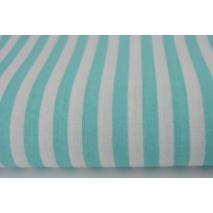 Cotton 100% turquoise stripes 5mm