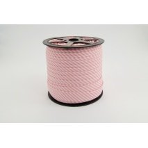 Cotton bias binding 2mm coral pink stripes