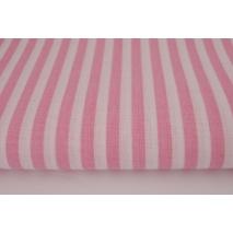 Bawełna 100% różowe paski 5mm