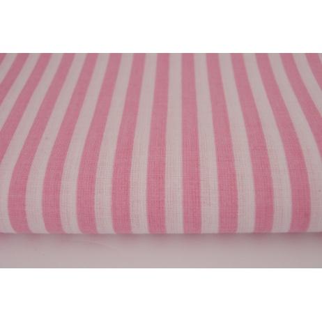 Bawełna 100% paski różowe 5mm