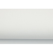 Waffle 100% cotton fabric, plain white