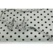 Wypustka bawełniana, czarna łączka na szarym tle