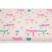 Cotton 100% pink bears, Indians