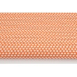 Bawełna 100% groszki na pomarańczowym tle
