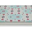 Cotton 100% Indian pattern mint-gray