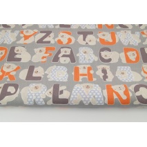 Cotton 100% alphabet orange-gray