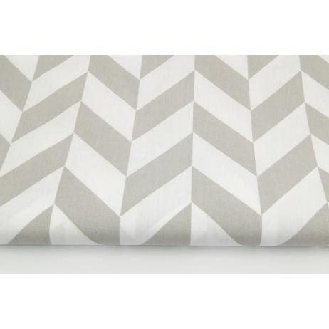 Cotton 100% light gray herringbone