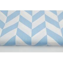Bawełna 100% jodełka niebieska