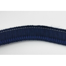 Ribbon with fringes navy blue 3cm