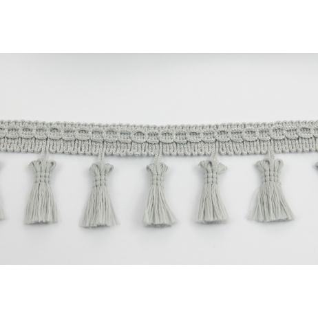 Ribbon with fringes light gray