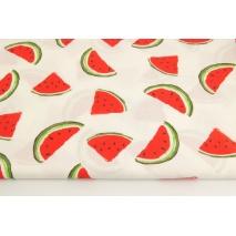 Bawełna 100% malowane arbuzy na kremowym tle