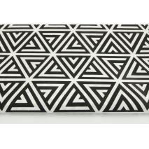 Cotton 100% black pyramids on a white background