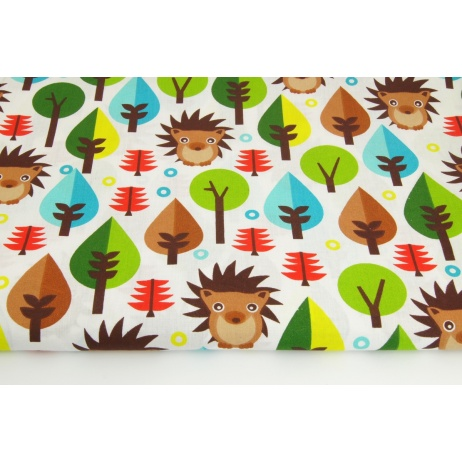 Cotton 100% brown hedgehogs in the forest