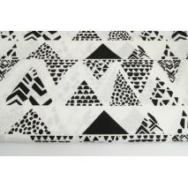 Bawełna 100% trójkąty safari, czarne