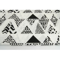 Cotton 100% black safari triangles