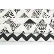 Cotton 100% black safari triangles