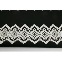 Bawełna 100% norweski wzór, czerń