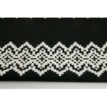 Cotton 100% Norwegian pattern, black