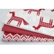 Cotton 100% bordeaux horses, Norwegian pattern